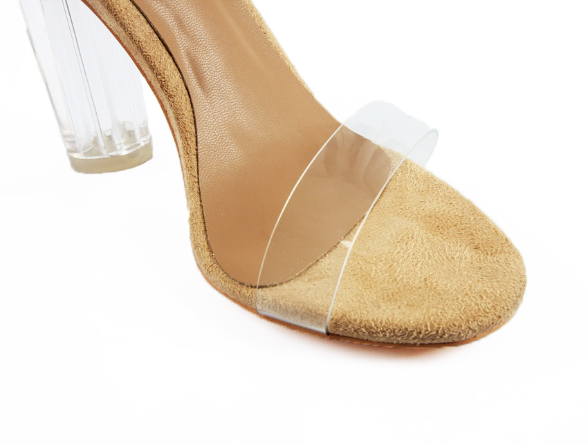 c705325f219 Rumbidzo 2018 PVC Jelly Sandals Women Pumps Open Toe High Heels Ankle Strap  Women Transparent Perspex Thick Heel Clear Sandalias-in Women s Pumps from  Shoes ...