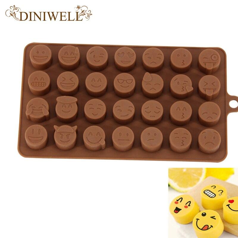 457f35cbea3 Diniwell 28 diferente lindo expresión encantadora silicona fondant cake  molde de chocolate para la cocina hornear Decoración y herramienta