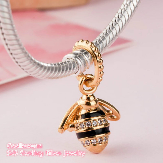 9a1e9df90 2018 new Spring 100% Original 925 Sterling Silver Queen Bee Pendant Charm  Beads Fit Pandora Charms Bracelet Diy Jewelry Making