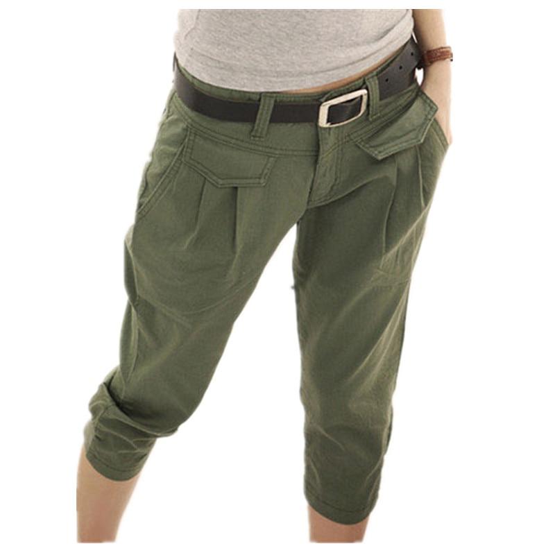 Pantalones Mujer 2020 Spring Summer Women Pants Casual Cropped Trousers Capris Harem Pants Women Fashion Loose Pants KZ069