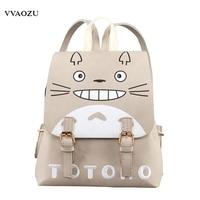 Anime Natsume Yuujinchou Women Backpack Shoulder Bag One Piece Totoro Kumamon Cosplay PU Rucksack For Teenage