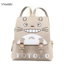 Anime Natsume Yuujinchou Mujeres Mochila Hombro Bolsa de Una Pieza Totoro Kumamon Cosplay PU Mochila para Adolescentes Niñas Mochila