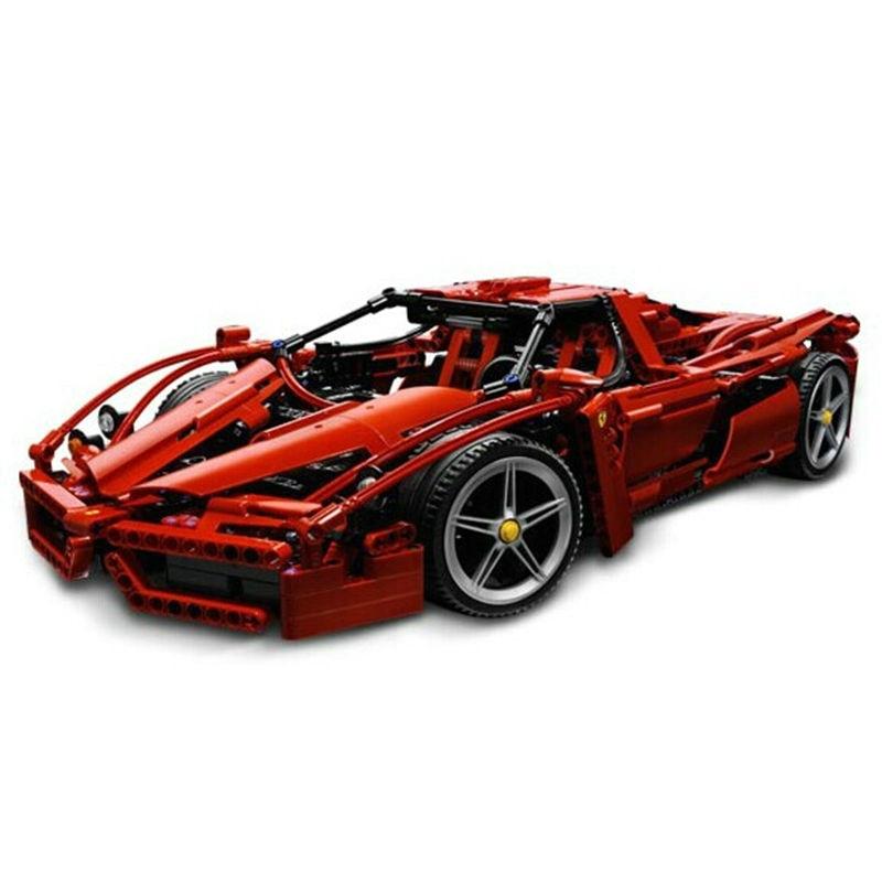Upgraded Racers Technic ENZO 1:10 Supercar Sports Car Enzo Model Building Kits Bricks Toys цены онлайн