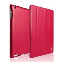 Jisoncase Intelligente Kasten Für iPad 4 3 2 Abdeckung Magnetischer Standplatz Leder Luxus Auto Wake up/Schlaf Abdeckung Für iPad