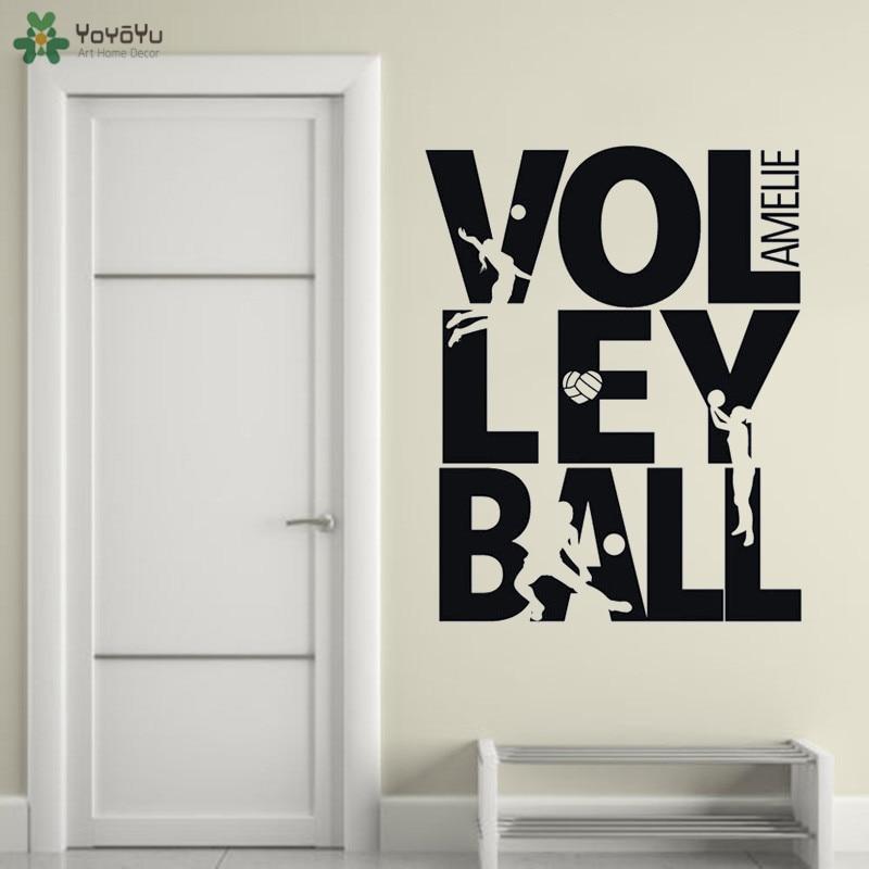 Eat Sleep Volleyball Wall Sticker Vinyl Decal Decors Art Volleyball Stickers