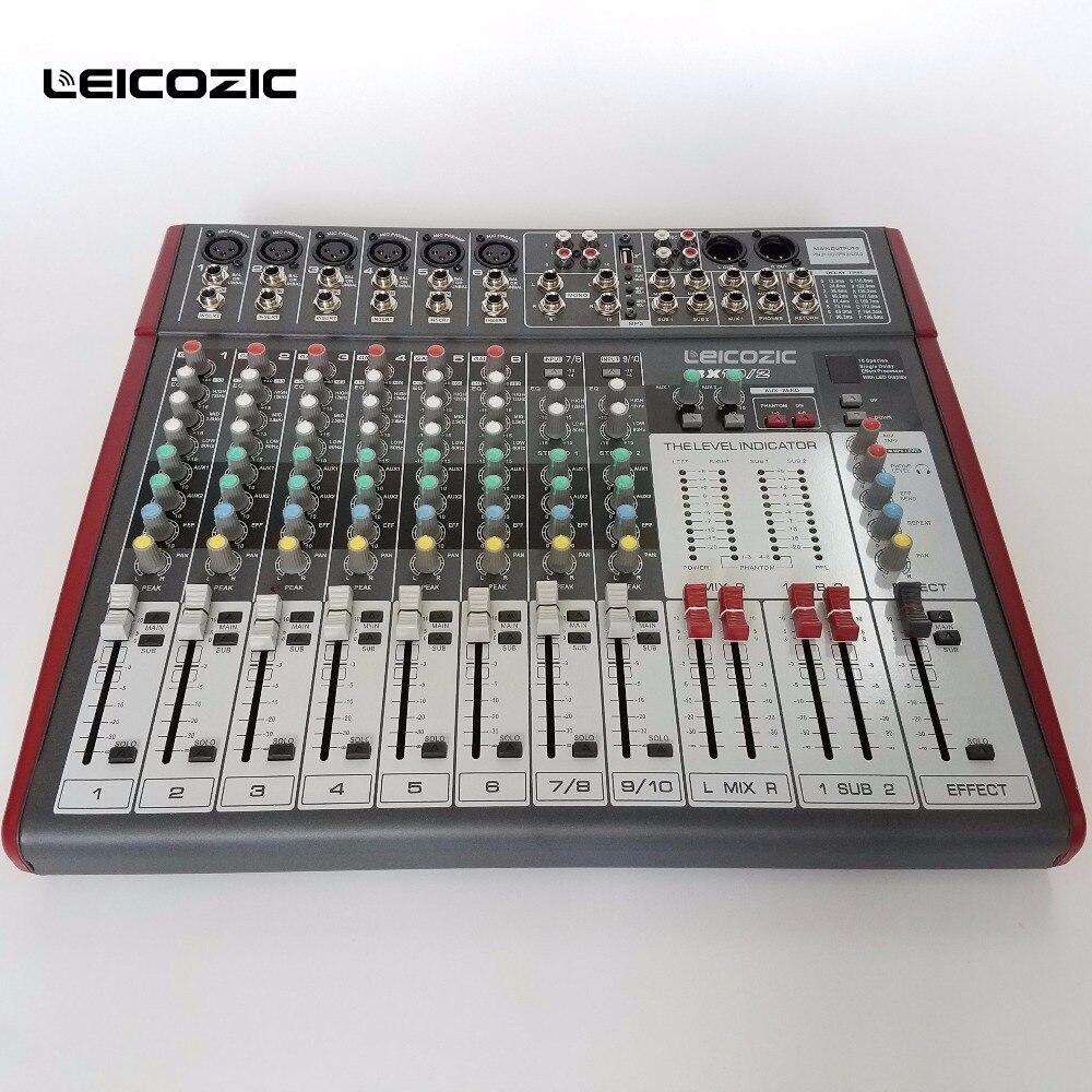 Dj-equipment Tragbares Audio & Video Leicozic Audio Mischpult Bx-10/2 Karaoke Systeme Professionelle Sound Mixer Für Disco Nachtclub Bühne Digital Audio Mixer