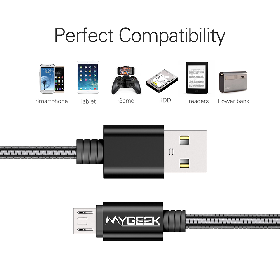 MyGeek Micro usb Cable for Samsung galaxy HTC MEIZU Huawei xiaomi Fast  Charge wire Microusb USB Charger Cable-in Mobile Phone Cables from  Cellphones ...