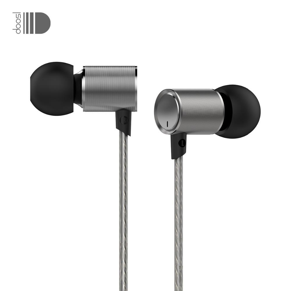Prix pour Doosl HiFi Métal In-Ear Écouteurs Super Bass Isoler Bruit Écouteurs Ergonomique Confort-Fit Dynamique Écouteurs pour iPhones PC