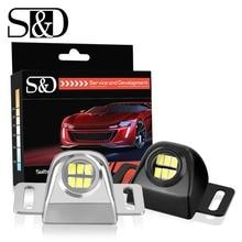 S & D Авто Внешние задние фонари с Canbus водостойкие универсальные автомобили светодио дный светодиодные вспомогательные резервные лампы Автомобильные светодио дный фонари светодиодные лампы