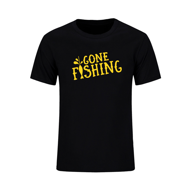 Go Fish 프린트 티셔츠 남성 여름 캐주얼 반소매 슬림 피트 탑스 웃긴 어부 브랜드 의류 최고 품질