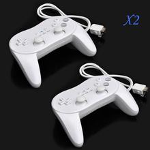 2PCS Classic Pro Wired Game Controller Pro for Nintendo Wii Game Remote