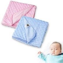 Baby Blanket Newborn Thermal Warm Soft Fleece Blankets & Swaddling Bedding Set