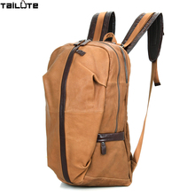 TAILUTE Cow leather Man Backpack Genuine Leather Man bag High quality Men's Shoulder Duffel Bag School Men Travel Laptop Bags