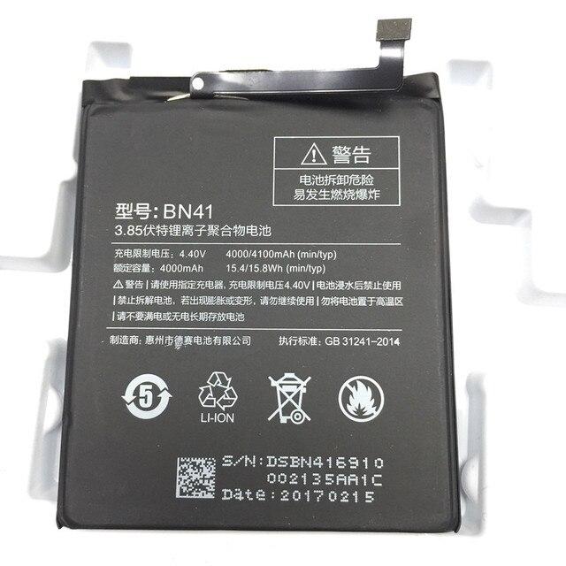 jinsuli BN41 4100mAh Hongmi Note 4 Battery For Xiaomi Redmi Note 4 Battery Batterie Bateria Accumulator AKKU