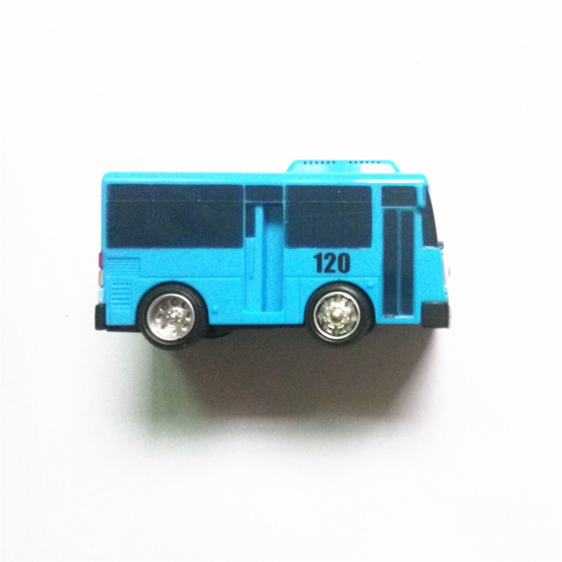4pcs set Tayo the little bus Korean Anime oyuncak araba car model mini plastic pull back tayo bus for kids Christmas gift in Diecasts Toy Vehicles from Toys Hobbies