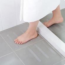 As tiras antiderrapantes do chuveiro das etiquetas da segurança do banho tiras transparentes não deslizam as etiquetas para banheiras chuveiros escadas pisos