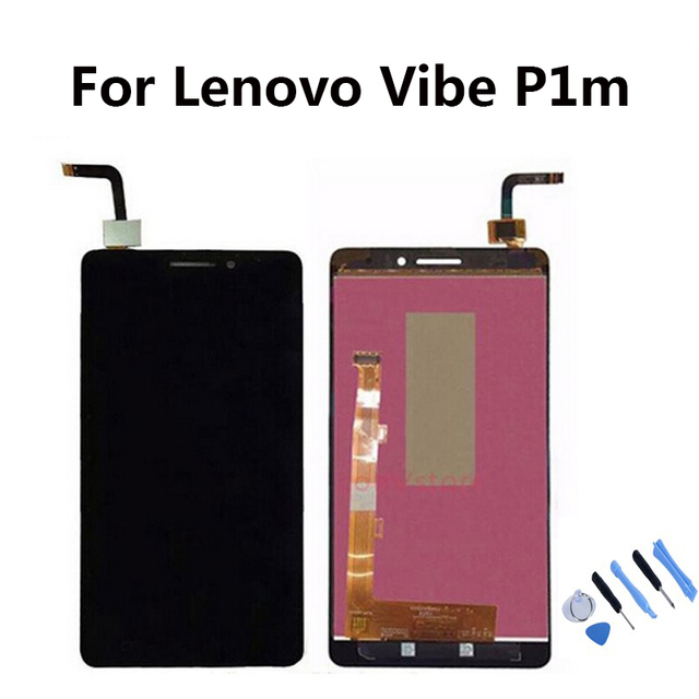 For Lenovo Vibe P1m LCD Display with Touch Screen Digitizer Assembly +Tools free shipping