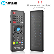 H1 mini 2.4GHz Wireless Air mouse H1 plus keyboard Remote Control Backlight Touchpad IR Learning For Windows PC Android TV BOX