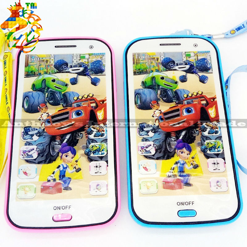 ZXS kids toy mobile phones English Language Children Mobile Toy blaze toys Talking and Learning Machine