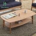 Simples moderna sala de estar mesa de café de madeira de carvalho