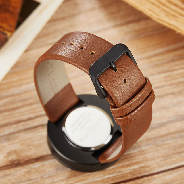 Wood Watch Ladies Simple Design Small Bracelet Natural Wooden Wrist Watch Women Genuine Leather Unisex Quartz Minimalist Watch 4