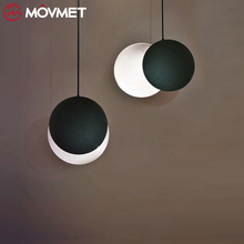 Nordic Moon Pendant Light Modern LED Decor Living Room Bedroom Lamp Luminaire Bar Cafe Round Cosmos Fixtures