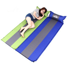 Hewolf 200*65cm Outdoor Automatic Inflatable Mattress 3cm Thicken Cushions Picnic Beach Sleeping Pad Camping Air Bed With Pillow