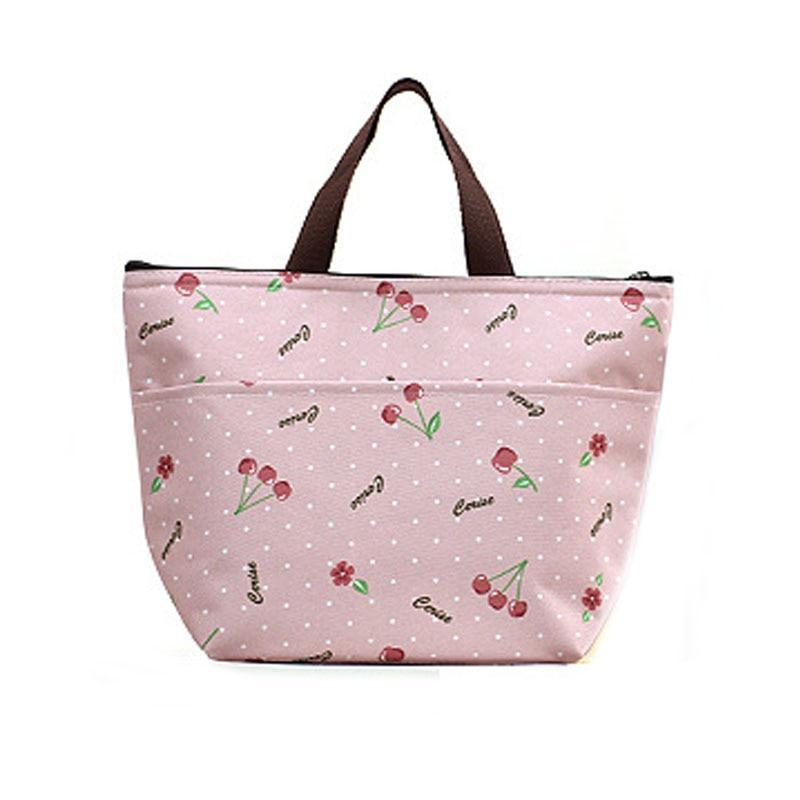 Детская бутылочка для кормления, изоляционная сумка, Переносные сумки для обедов, Термосумка-холодильник для мумии, переносная сумка для хранения, дорожная сумка для пикника - Цвет: cherry