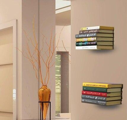 2Pcs /Lot Premintehdw White Wall Invisible Floating Book Shelf Shelving With Screws L Design Decoration 2pcs lot ncp81101bmntxg ncp81101b 81101b