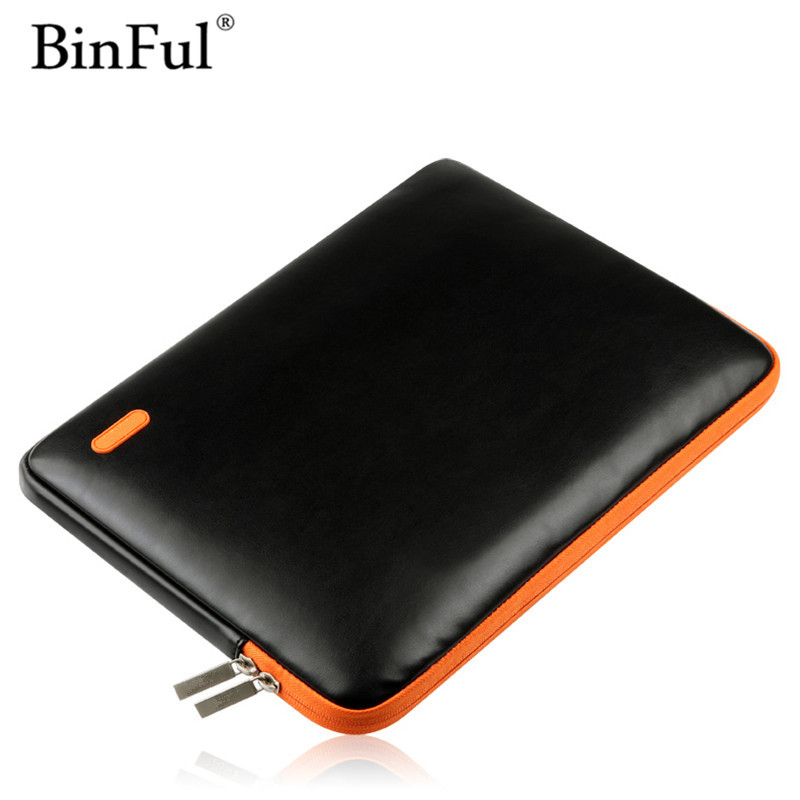 BinFul Newest Leather Sleeve Case for Macbook Air Pro Retina 11.6 12 13.3 15.4 Inch Laptop Cases for Other notebook Bag 13 15