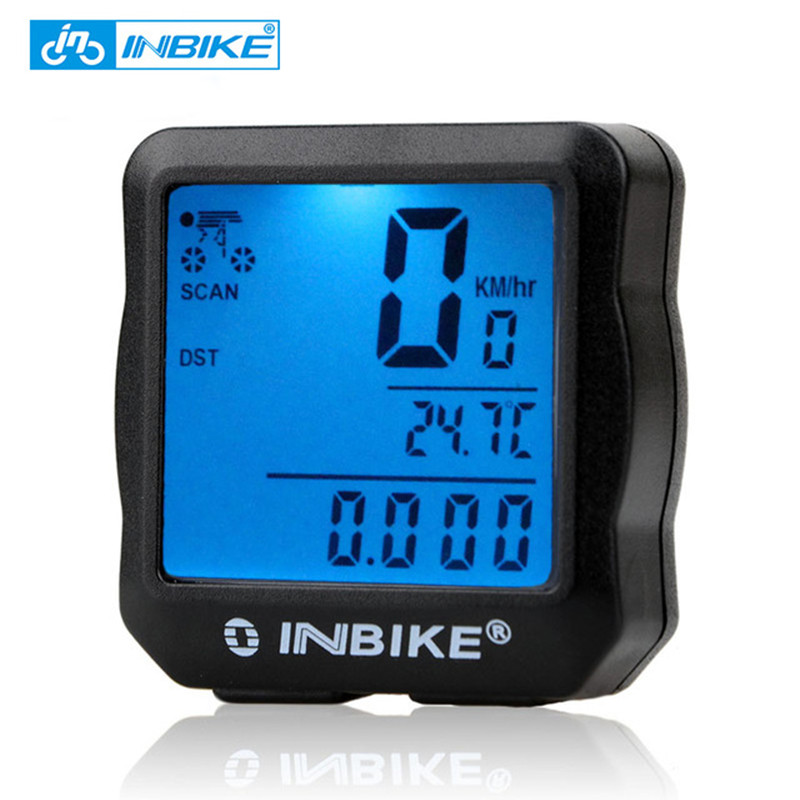 INBIKE Bike Computer Bicycle Speedometer Bicycle Computer Digital Backlight Waterproof Odometer Clock Stopwatch Bike Accessories