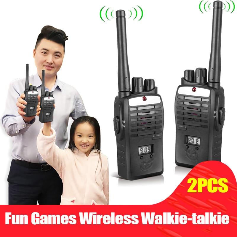 2pcs Electronic Interphones Ear Game Walkie Talkie Interphone Intercom Children Kid Toys M09