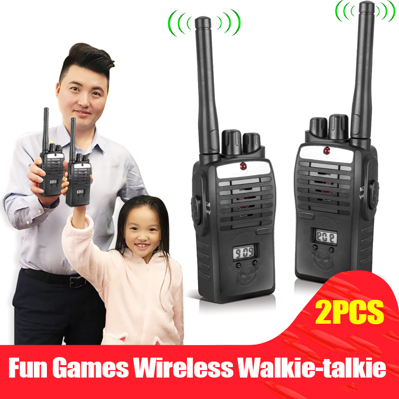 2pcs Electronic Interphones Ear Game Walkie Talkie Interphone Intercom <font><b>Children</b></font> Kid Toys M09 image