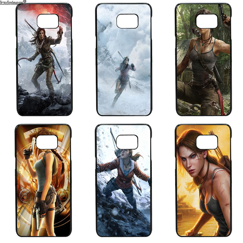 Lara Croft Tomb Raider Phone Case Hard Cover Fitted for Samsung Galaxy S8 S9 Plus S2 S3 S4 S5 Mini S7 S6 Edge Plus Active Shell