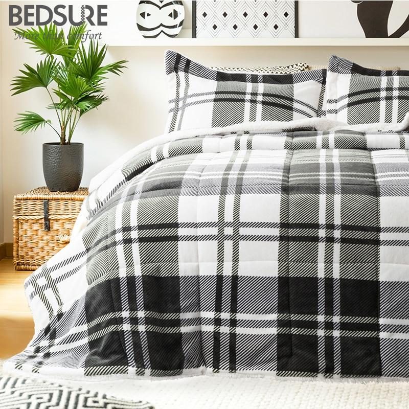 best service 06e0e ec392 Bedsure Warm Sherpa Comforter Sets 3pcs Duvet Insert with ...