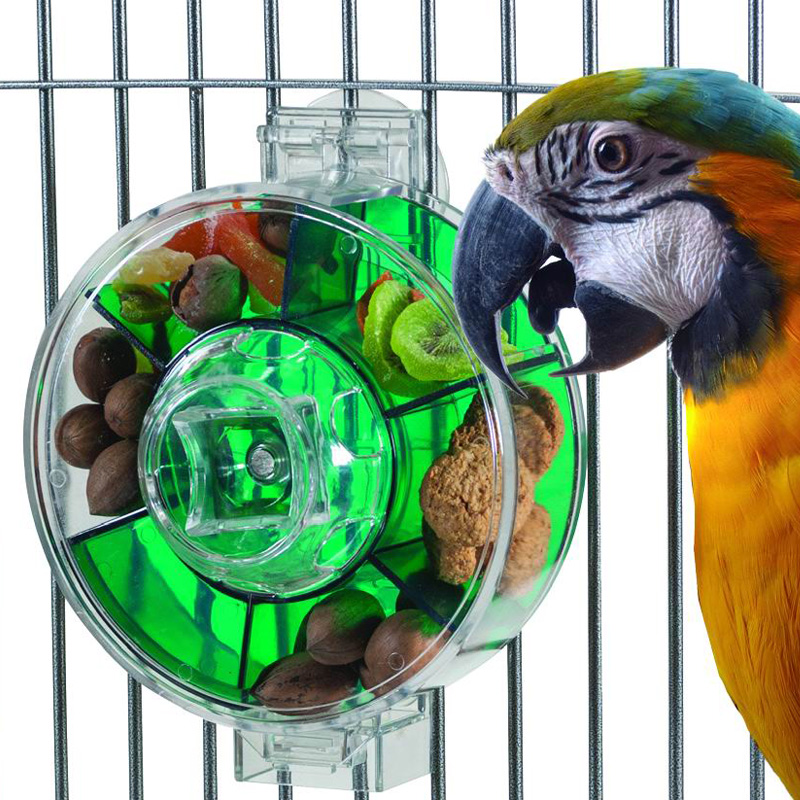 CAITEC Perroquet Jouets Grande Nourriture Roue Durable Dur Résistant Aux Morsures Convient pour les Moyennes ou Grandes Perroquets Oiseau Classique Jouets