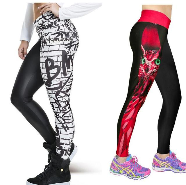 New Arrival 3D Print Women Leggings Geometric Knitted Fashion Skinny Leggins Size High Waist Elastic Women Leggings Pants