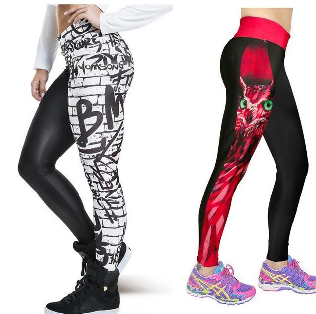 New Arrival 3D Print Women Leggings Geometric Knitted Fashion Skinny Leggins Size High Waist Elastic Women Leggings Pants