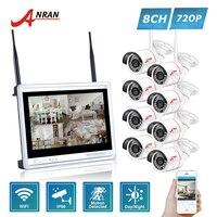 ANRAN P2P CCTV 8CH WIFI NVR System 12 Inch LCD Monitor 24 IR Waterproof Network 720P