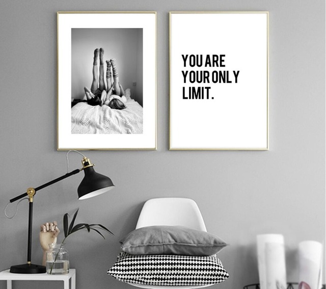 Black And White Paintings For Bedroom Bedroom Sets Black Modern Bedroom Black Bedroom Furniture Sets Pictures: Aliexpress.com : Buy No Frame Twin Girl Painting Poster