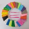 Foam Clay Мягкий Свет Цветной Пластилин Playdough Пластилин Магия Воздуха Сухой шлам С Бесплатные Инструменты, детские Подарки На День Рождения