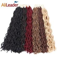 """Alileader искусственная locs вьющиеся крючком волос 10 """"18"""" короткие и средние Размеры крючком косы синтетических Моноволокно плетение волос 1B #613 #"""
