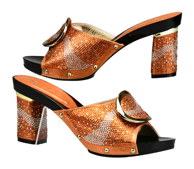 Pour Orange Chaussures Couleur 2018 Noir Mariage Africain orange De or jaune argent Sac Sacs Fête Italien Ensemble Africains Et La En Assorties Femmes vXCwqX