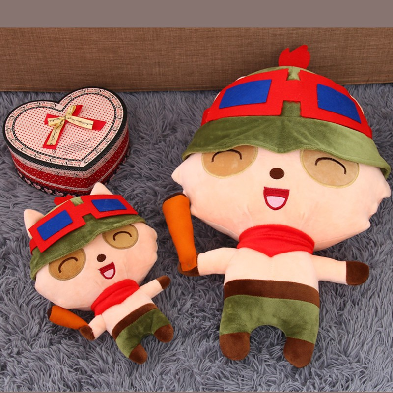 [Funny] Very cute 25~80cm Soft Teemo mushroom stuffed Plush toy LOL Online game hero doll model Hold pillow Kids baby girl Gift
