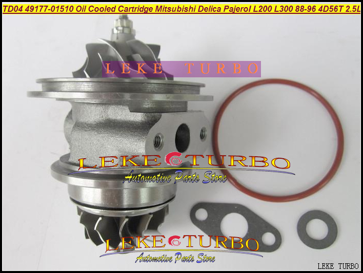 Free Ship Turbo CHRA Cartridge Core TD04 49177-01500 49177-01501 MD106720 For Mitsubishi SHOGU Delica Pajero L200 L300 4D56 2.5L turbo cartridge chra core rhv4 vt16 1515a170 vad20022 for mitsubishi triton intercooled pajero sport l200 dc 06 di d 4d56 2 5l