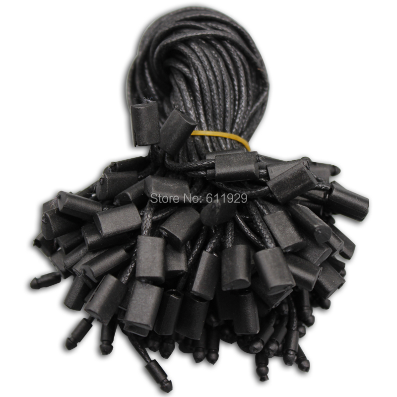 Бесплатная доставка, оптовая продажа, черная одежда, бирка, воск, шнур, длина 18 см/линия для одежды/Пряжка/нить/слинг, 500 шт. в партии