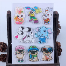 ФОТО rubber silicone clear stamps for scrapbooking tampons transparents seal background stamp card making diy cartoon animal