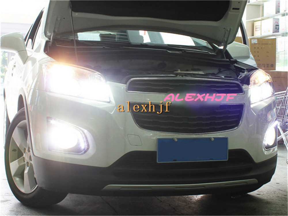 July King LED Daytime Running Lights DRL With Fog Lamp Cover Case for Chevrolet Trax 2013~2016, 1:1 Replacement, free shipping free shipping led daytime running lights drl with fog lamp cover led fog lamp case for volvo v60 2011 2013 1 1 replacement