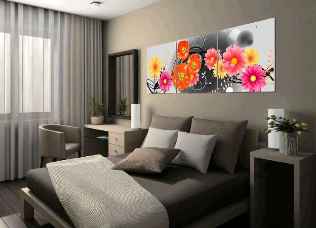 Beautiful Wall Paper Flowers Painting For Modern Living Room Decoration Printed On Canvas Artwork Unique
