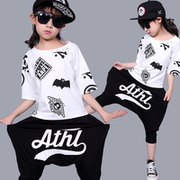 Children Jazz Dance Costumes DJ Virgin Haren Pants Hip Hop Performance Training Set Wholesale